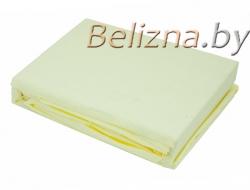 Простынь на резинке 140x200 «Светло-желтая»