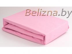 Простынь на резинке 160x200 «Розовая»