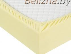 Простынь на резинке 160x200 «Светло-желтая»