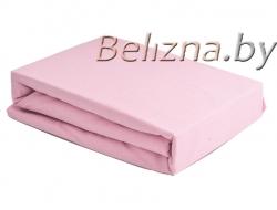 Простынь на резинке 180x200 «Светло-розовая»