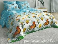 Двуспальное постельное белье из бязи «Ромашковое поле»