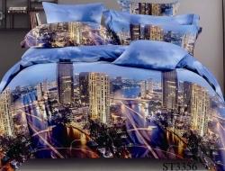 Двуспальное постельное белье из поплина «ST3356»