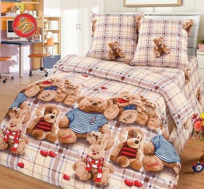 Детское постельное белье топтыжки 3d