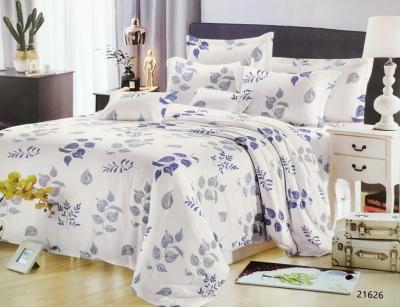 Полуторное постельное белье из поплина «21626»