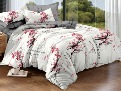 Двуспальное постельное белье из поплина «852»