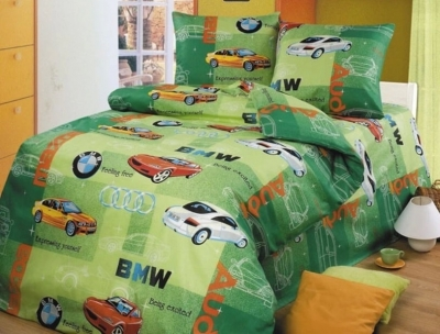 Полуторное постельное белье из бязи «Авторалли»