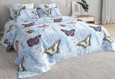 Двуспальное постельное белье из бязи «Бабочки 02»