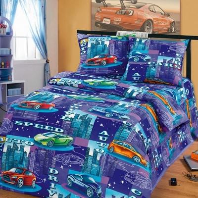 Полуторное постельное белье из бязи «Драйв»