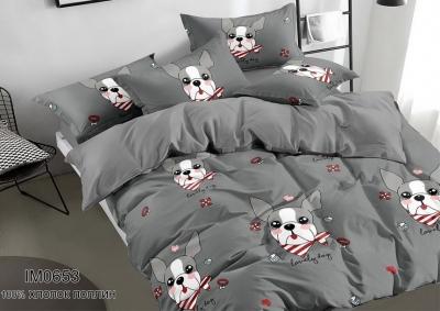 Полуторное постельное белье из поплина «IM0653»