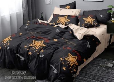 Полуторное постельное белье из поплина «IM0656»