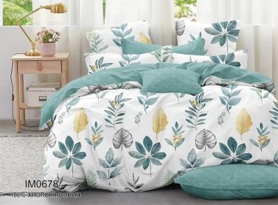 Двуспальное постельное белье из поплина «IM0678»