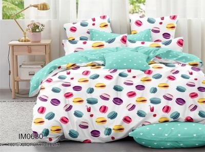 Полуторное постельное белье из поплина «IM0680»
