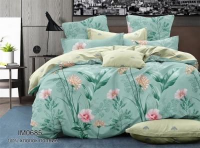 Двуспальное постельное белье из поплина «IM0685»