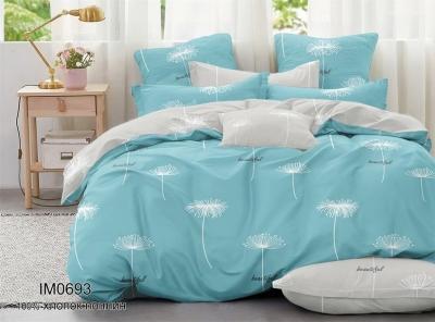 Полуторное постельное белье из поплина «IM0693»