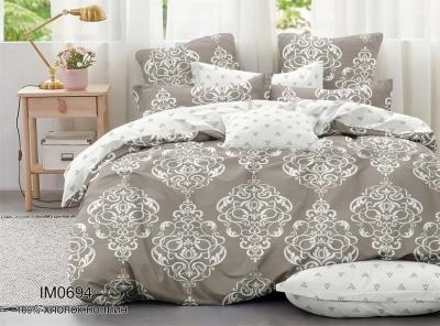 Двуспальное постельное белье из поплина «IM0694»