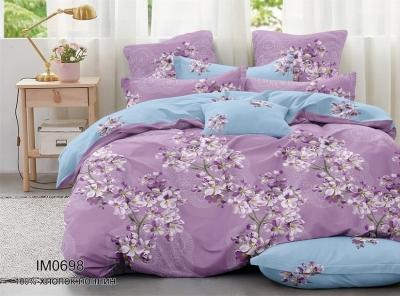 Полуторное постельное белье из поплина «IM0698»