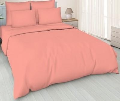 Простынь на резинке 180x200 «Кораллово-розовая»