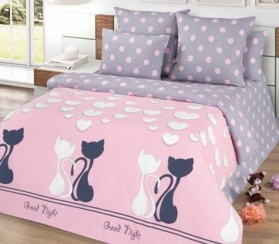 Двуспальное постельное белье из поплина «ЛяМурр»