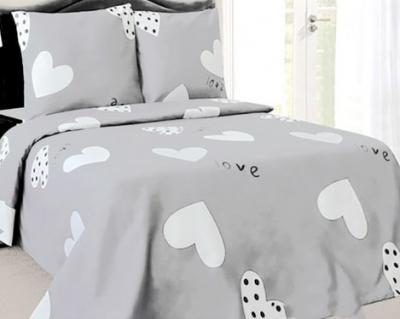 Двуспальное постельное белье из бязи «Love 6061(02)»