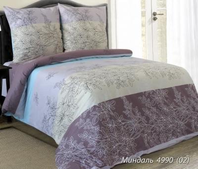 Полуторное постельное белье «Миндаль с голубым»