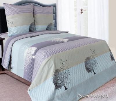 Семейное постельное белье ДУЭТ из бязи «Raven 5695 (02)»