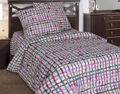 Двуспальное постельное белье из бязи «Шотландка»