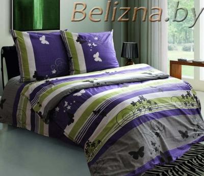 Постельное белье ДУЭТ из бязи «Мотыльки фиолетовые»