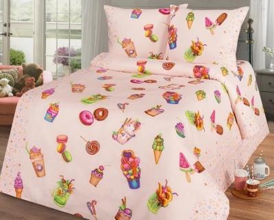Полуторное постельное белье из бязи «Сластена»