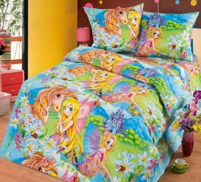 Полуторное постельное белье из бязи «Страна чудес»