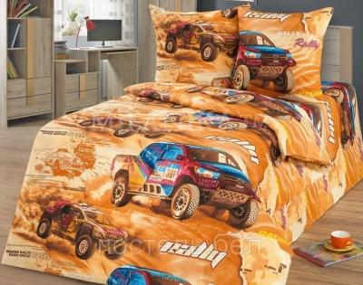 Полуторное постельное белье из бязи «Суперкар»