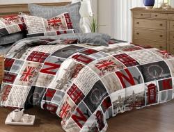 Полуторное постельное белье из поплина «1126»