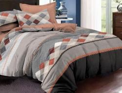 Полуторное постельное белье из поплина «1135»