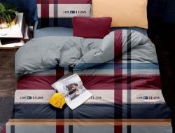 Полуторное постельное белье из поплина «1142»