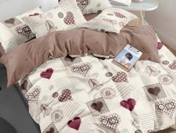 Полуторное постельное белье из поплина «1145»