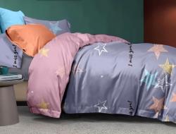 Полуторное постельное белье из поплина «1147»