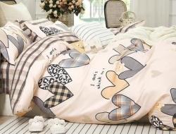 Полуторное постельное белье из твил-сатина «27-25»