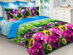 Полуторное постельное белье из бязи «4405»