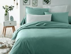 Двуспальное постельное белье из сатина «633 изумруд»