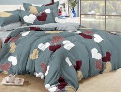 Полуторное постельное белье из поплина «956»
