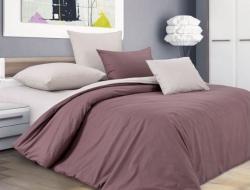 Двуспальное постельное белье из поплина «Шоколадный крем»