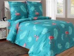 Полуторное постельное белье из бязи «Фламинго 03»