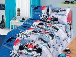 Полуторное постельное белье из бязи «Формула»