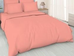 Простынь на резинке 160x200 «Кораллово-розовая»