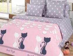 Полуторное постельное белье из поплина «ЛяМурр»