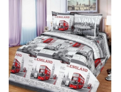 Полуторное постельное белье из бязи «Лондон Сити»
