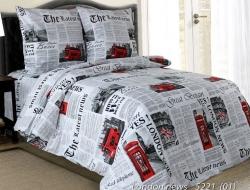 Полуторное постельное белье из бязи «London news»