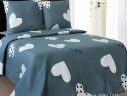 Полуторное постельное белье из бязи «Love 6061(01)»