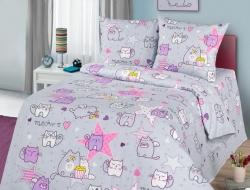Полуторное постельное белье из бязи «Мяу-Мяу»