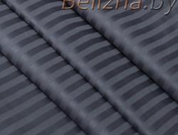 Полуторное постельное белье из страйп-сатин-жаккарда «Мокрый асфальт»
