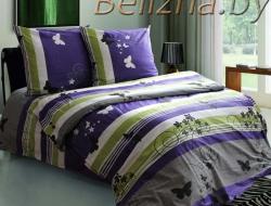 Полуторное постельное белье из бязи «Мотыльки фиолетовые»